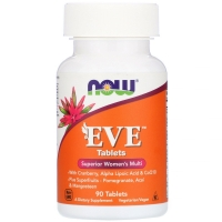 EVE Superior Womens multi 90 Tab, NOW Foods