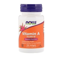 Vitamin A 10000IU 100 Softgels, NOW Foods
