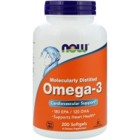 Omega 3 200 Caps, NOW Foods