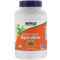 Spirulina 500mg 500 Tab, NOW Foods