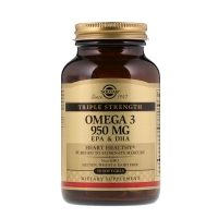 Omega 3 950mg EPA & DHA Triple Strength 50 Softgels, Solgar