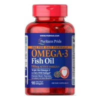 One Per Day Fish Oil 950mg Active Omega 3 90 Softgels, Puritans Pride