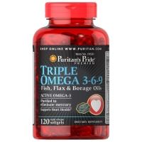 Triple Omega 3-6-9 120 Softgels, Puritans Pride