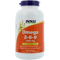 Omega 3-6-9 1000mg 250 Softgels, NOW Foods