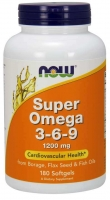 Super Omega 3-6-9 1200mg 180 Softgels, NOW Foods