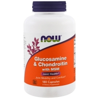 Glucosamine & Chondroitin MSM 180 Caps, NOW Foods