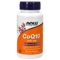 CoQ10 200mg 60 Caps, NOW Foods