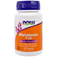 Melatonin 3mg 60 Caps, NOW Foods