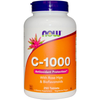 Vitamin C-1000 With Rose Hips 250 Tab, NOW Foods