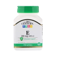 Vitamin E 180mg 110softgels, 21st Century