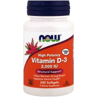 Vitamin D-3 2000IU 240 Softgels, NOW Foods