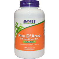 Pau D Arco 500mg 250 Veg Caps, NOW Foods