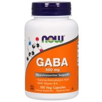 GABA 500mg 100 Caps, NOW Foods
