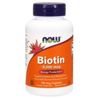 Biotin 5000mcg 120 Caps, NOW Foods