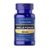 Melatonin 5mg 60 Softgels, Puritans Pride