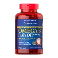 Double Strength Omega 3 1200mg 90 Softgels, Puritans Pride