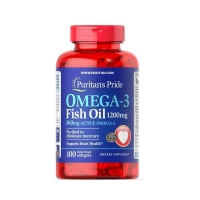 Omega 3 Fish Oil 1200mg 100 Softgels, Puritans Pride