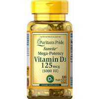Vitamin D3 5000iu 100 Softgels, Puritans Pride
